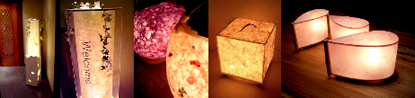 和紙照明によるオリジナルのウェディングアイテム