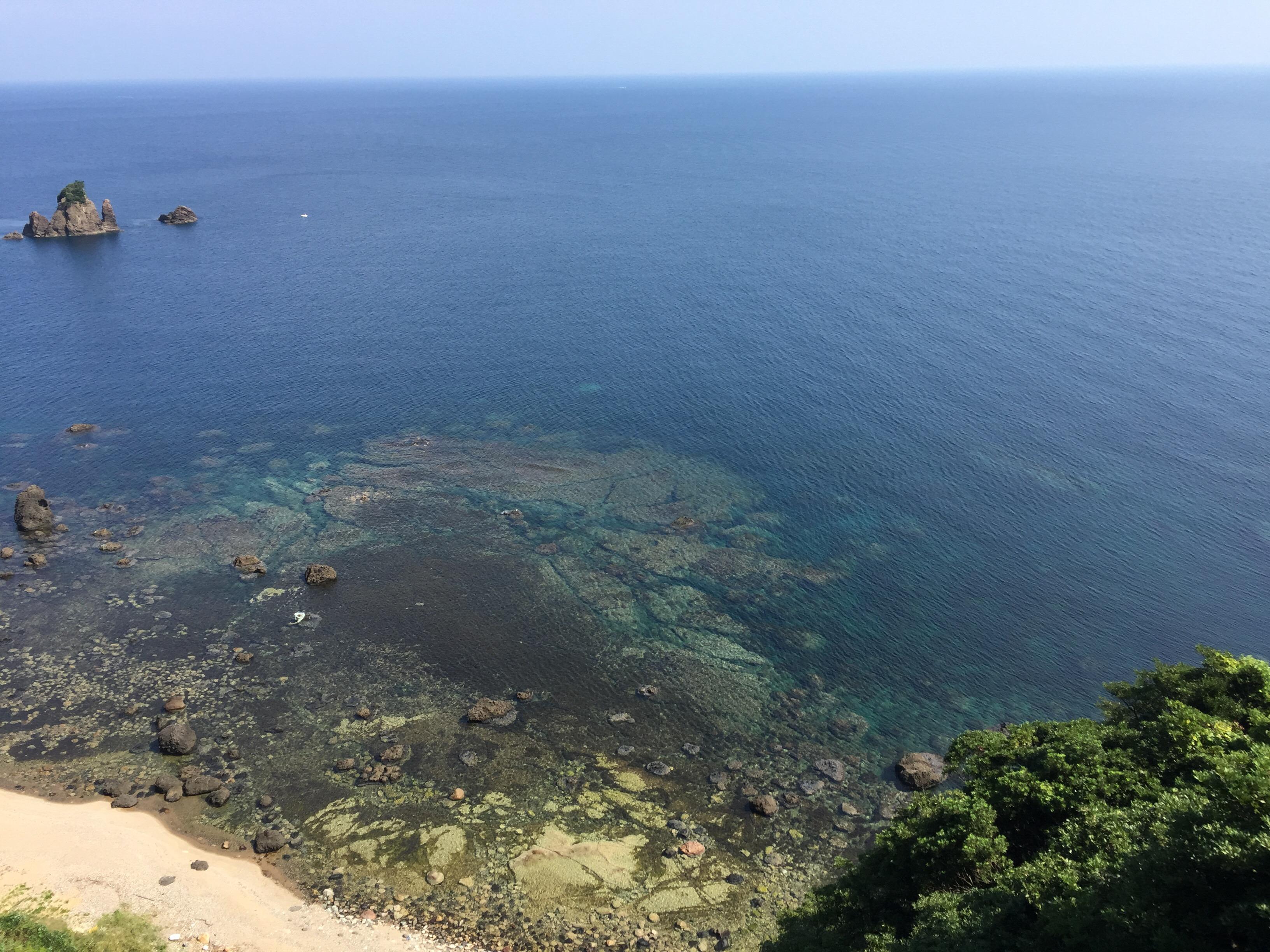この季節の日本海は透明度が高い