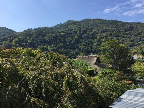 嵐山が一望!とにかく素晴らしい眺めの中での手作り体験です