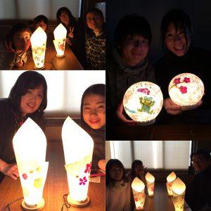 和紙あかり手作り体験は2018年も好評スタートです!!