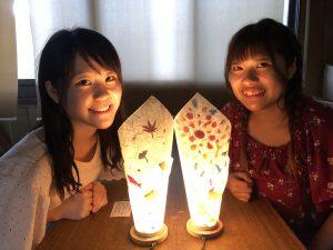 夏休みもラストスパート!京都で和紙あかり手作り体験しませんか。