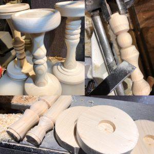 キャンドルスタンドは旋盤で製作
