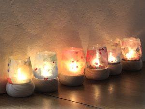 和紙+キャンドルの光が新鮮で美しい「和紙キャンドルランプコース」